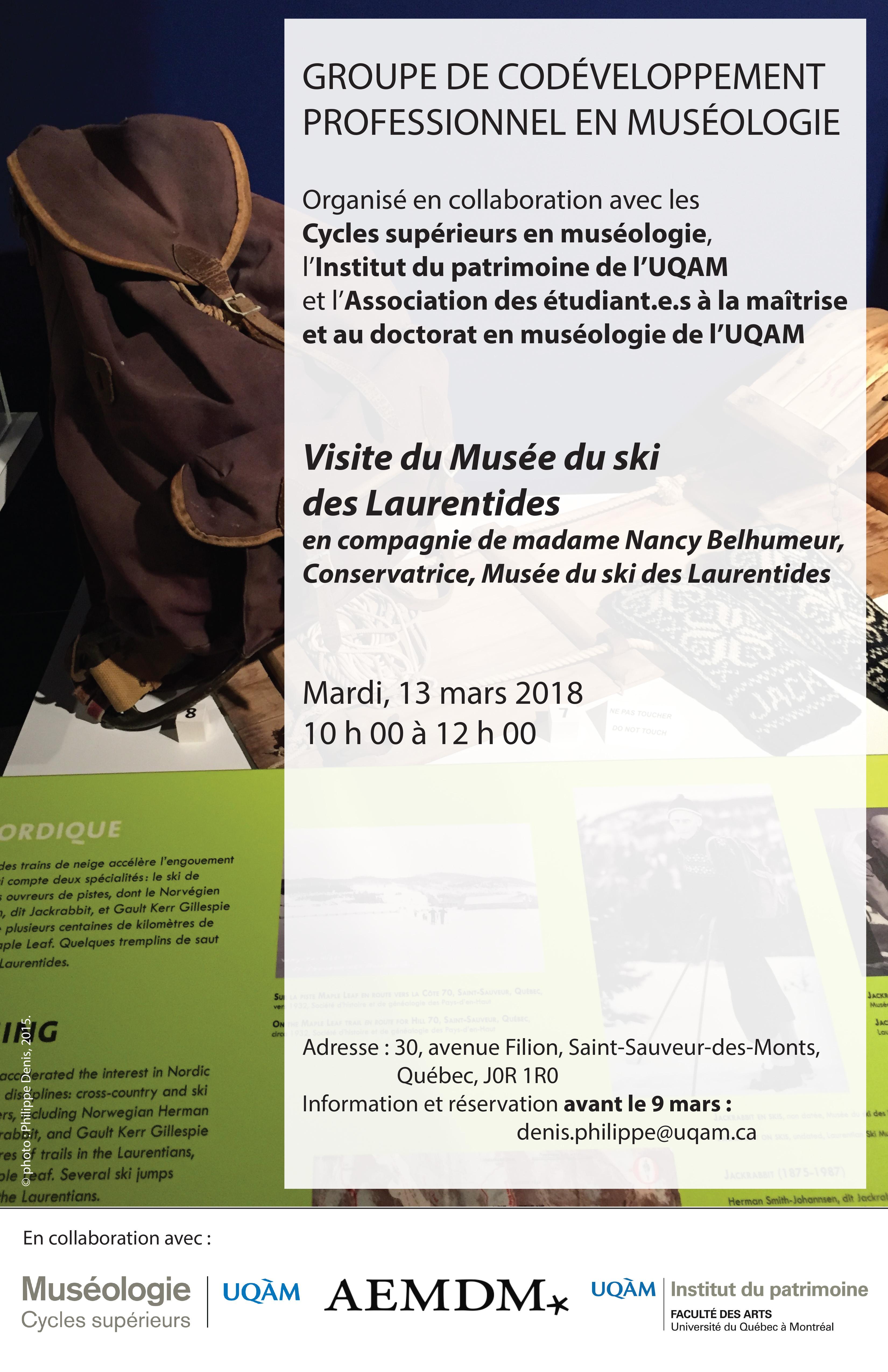 Groupe de codéveloppement professionnel en muséologie / Musée du ski des Laurentides
