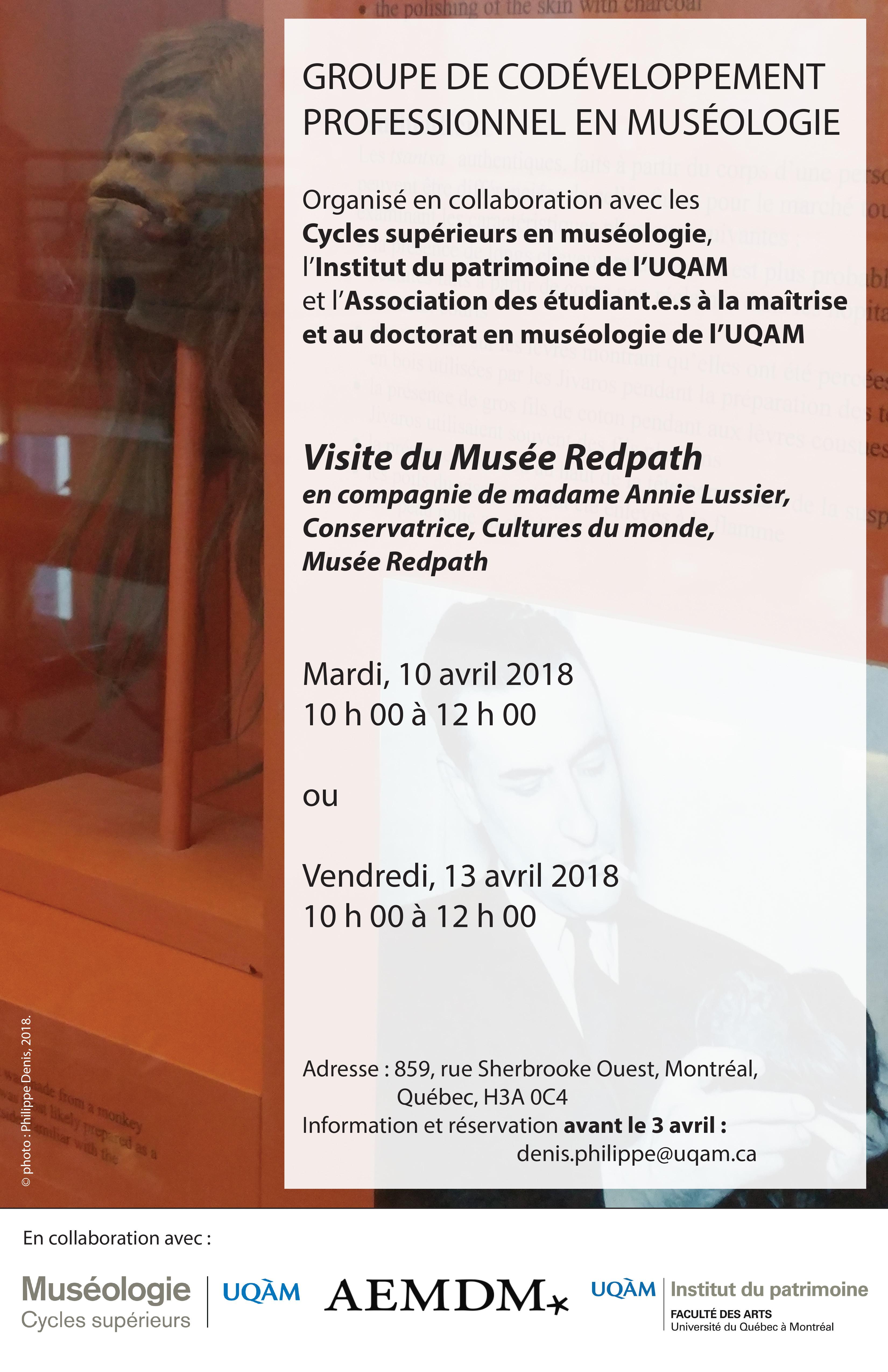 Groupe de codéveloppement professionnel en muséologie / Musée Redpath