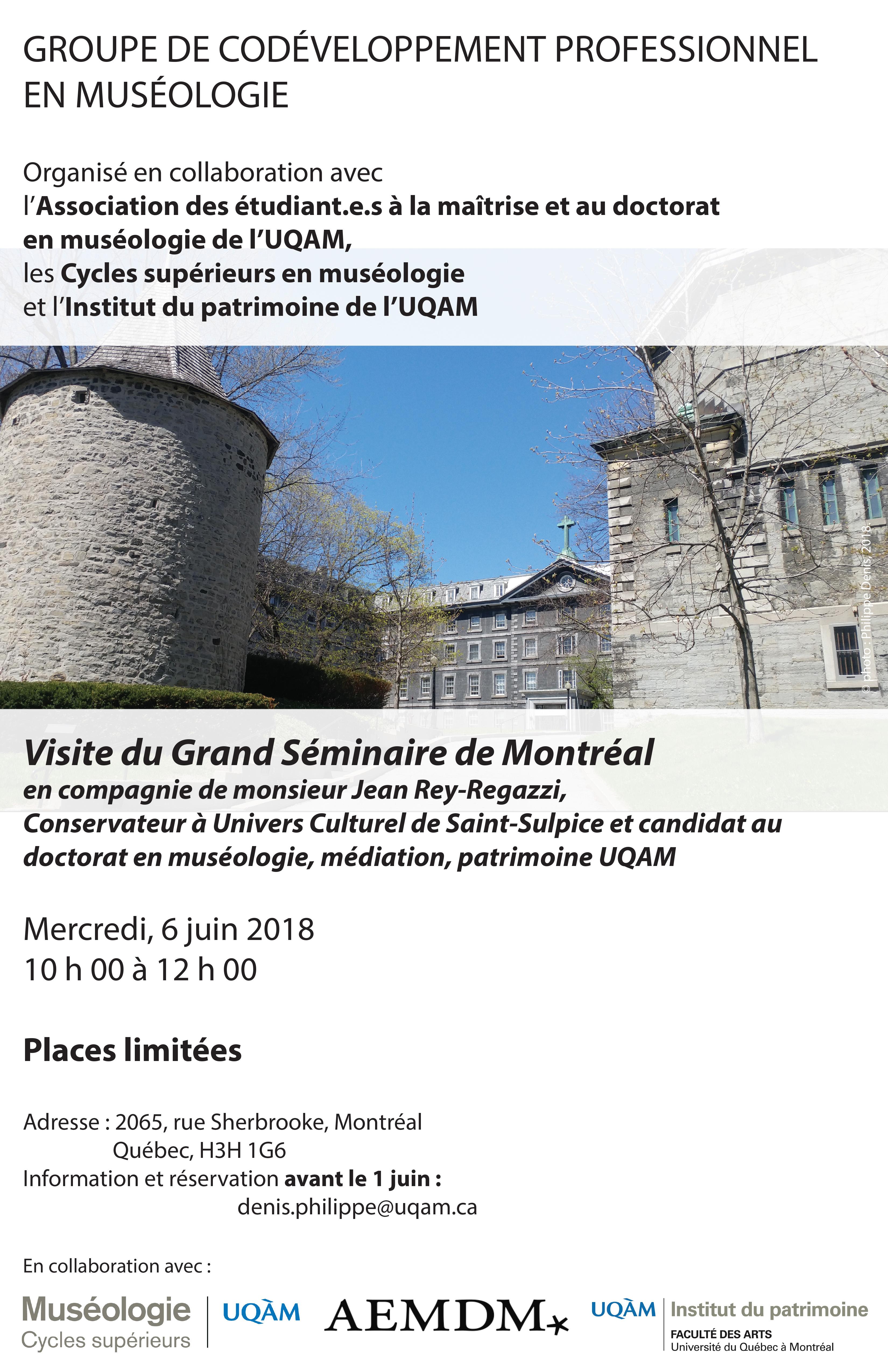 Groupe de codéveloppement professionnel en muséologie / Grand Séminaire de Montréal