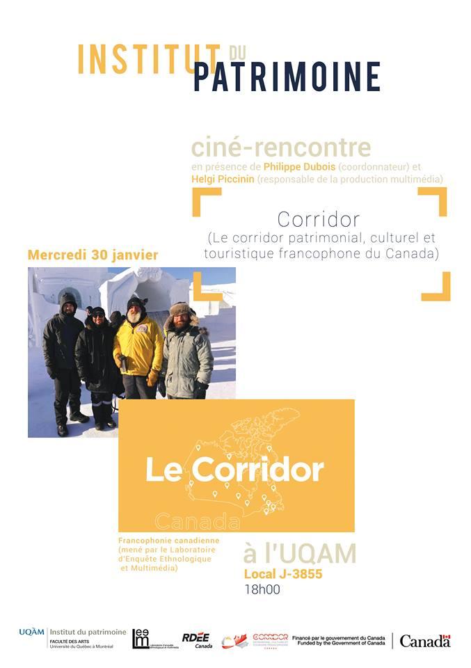 Ciné-rencontre : Le Corridor patrimonial, culturel et touristique francophone du Canada