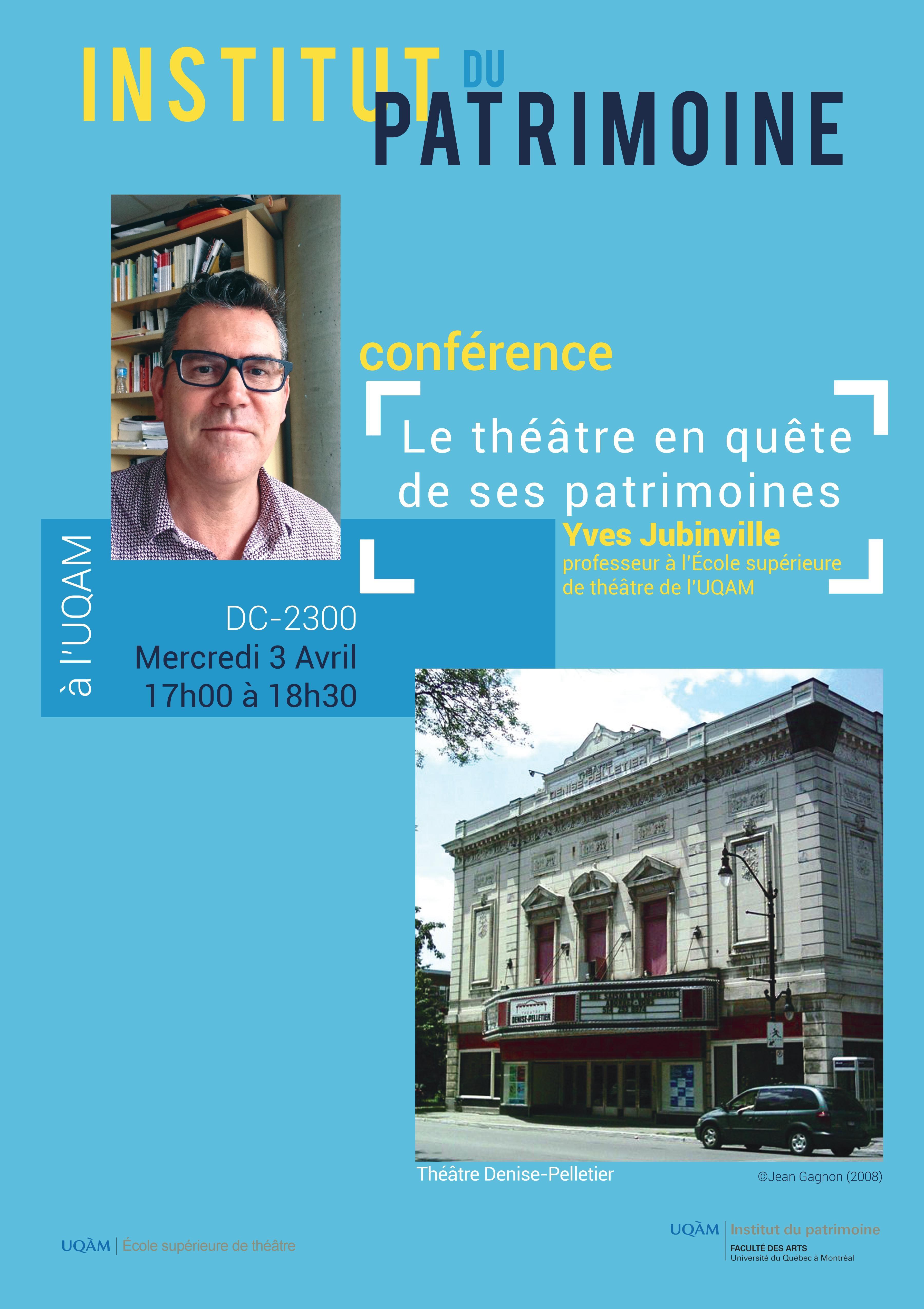 Conférence : le théâtre en quête de ses patrimoines