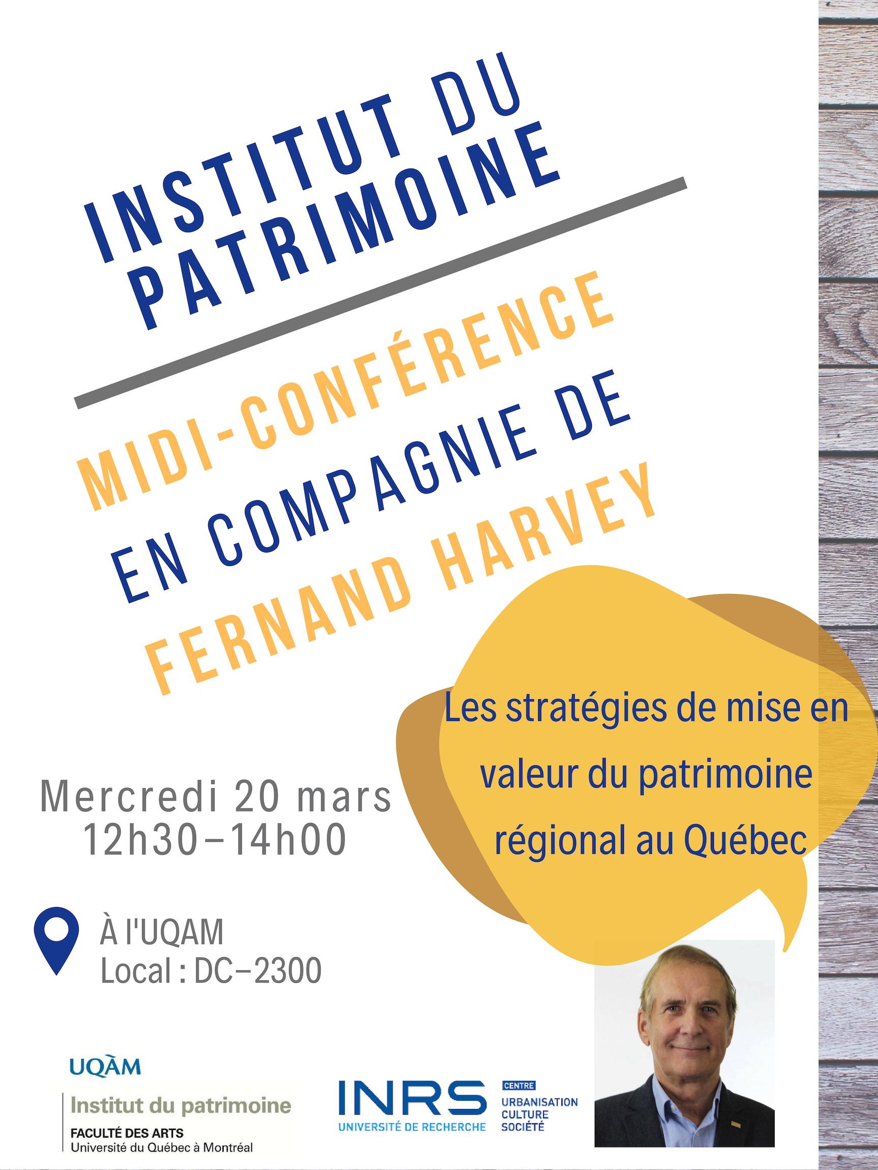 Conférence : Les stratégies de mise en valeur du patrimoine régional