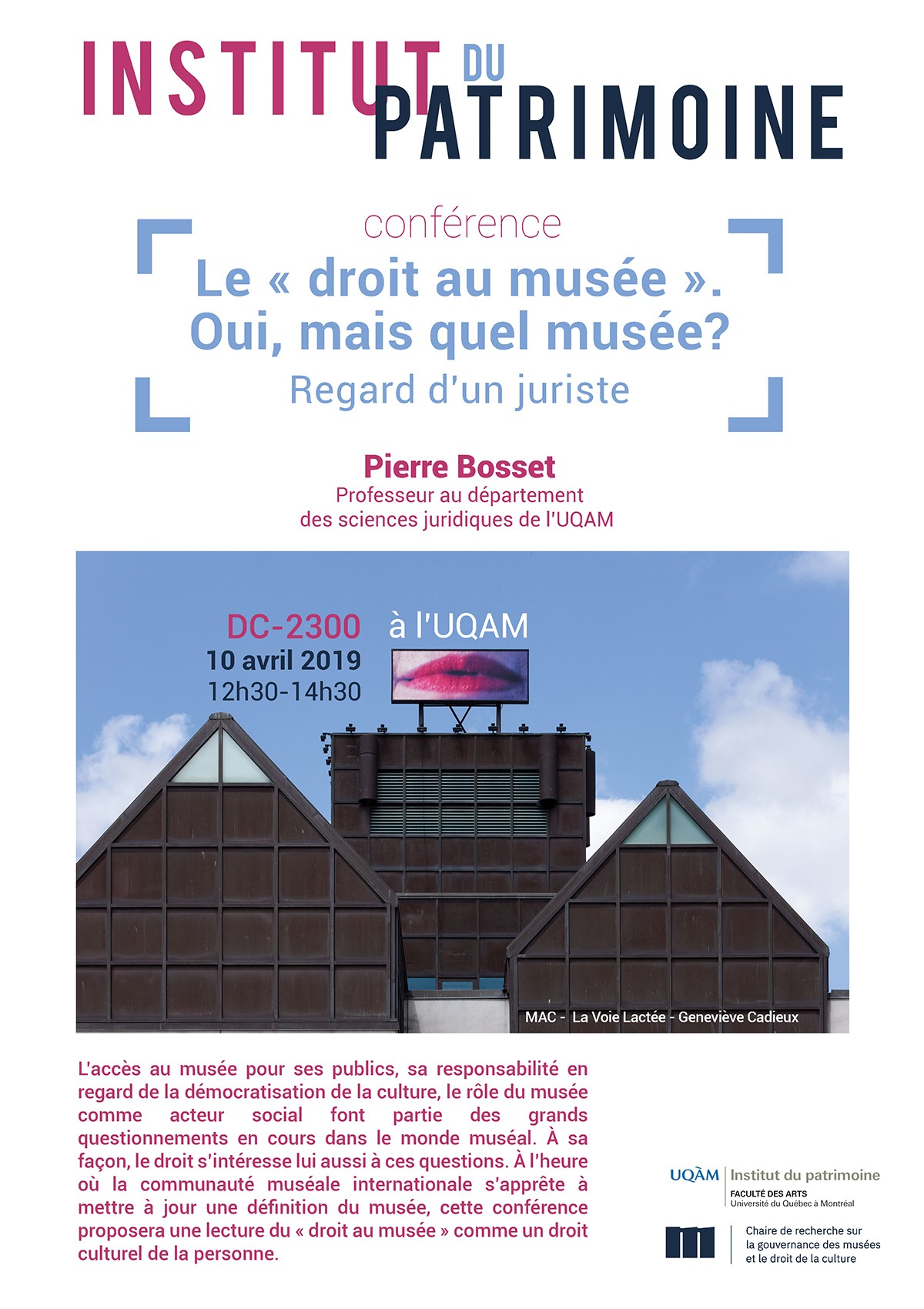 Conférence: Le « droit au musée ». Oui, mais quel musée?