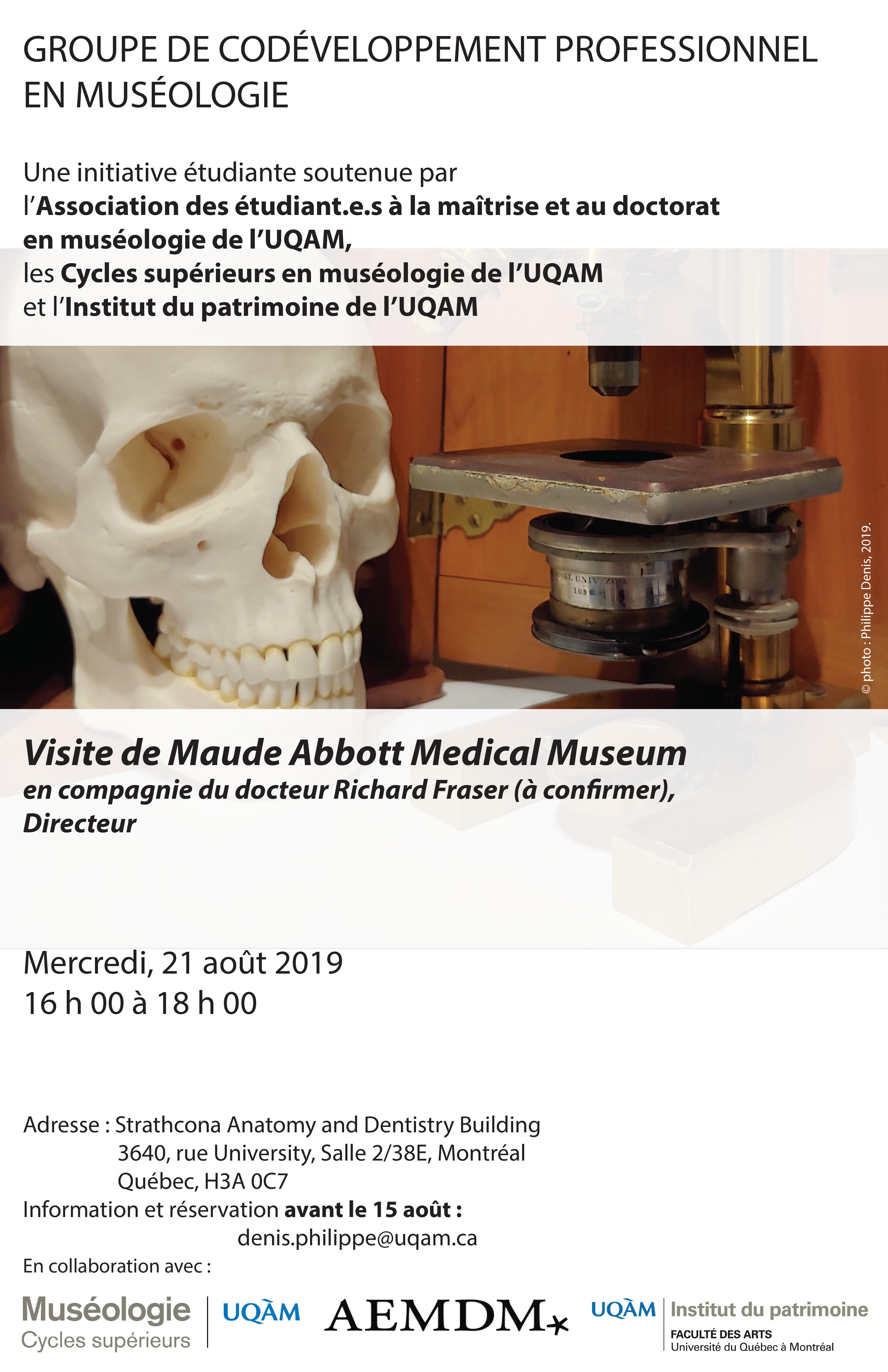 Groupe de codéveloppement professionnel en muséologie / Maude Abbott Medical Museum