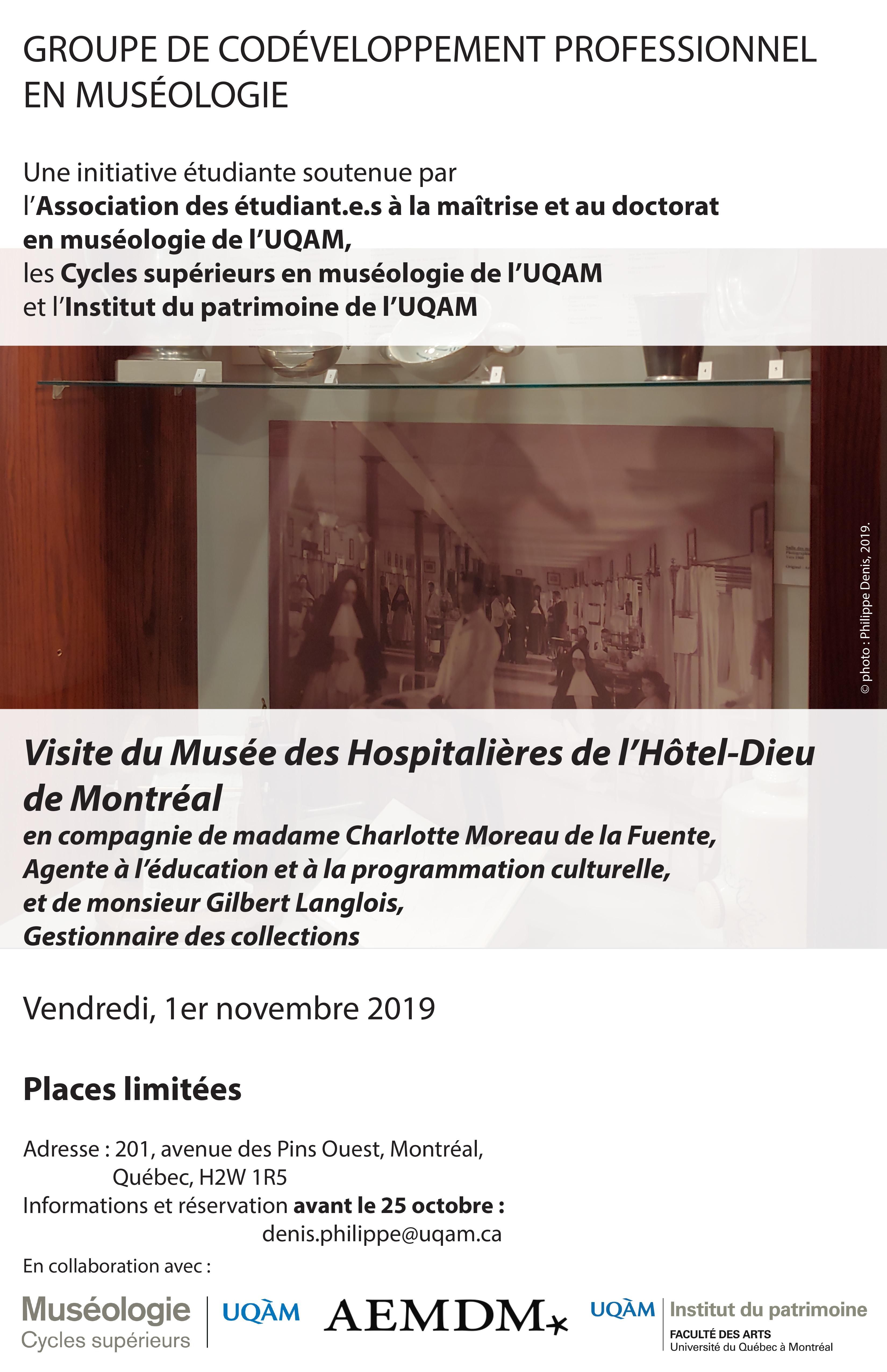 Groupe de codéveloppement professionnel en muséologie / Musée des Hospitalières de l'Hôtel-Dieu de Montréal