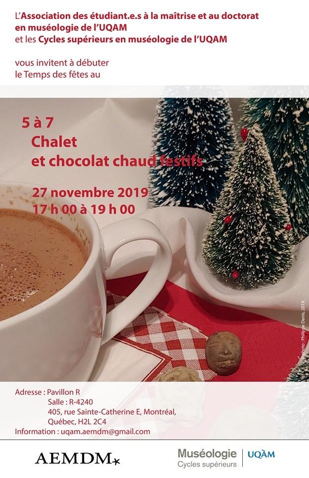 5 à 7 chalet et chocolat chaud